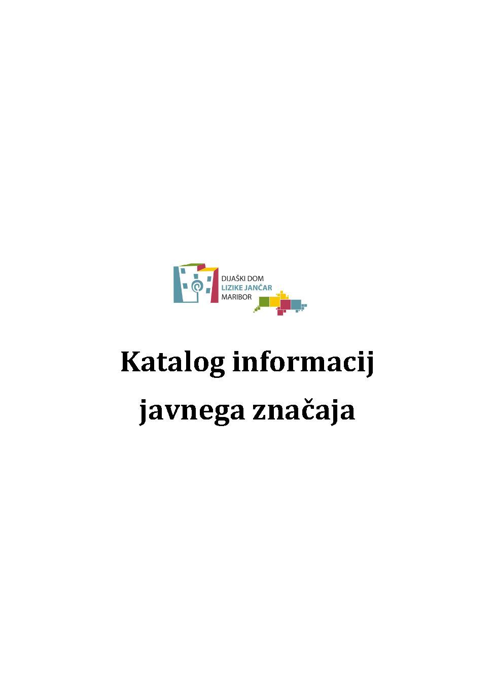 Katalog informacij javnega značaja