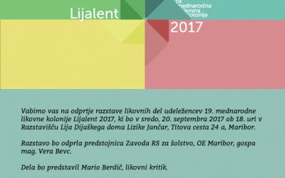 Vabilo na razstavo LIJALENT 2017