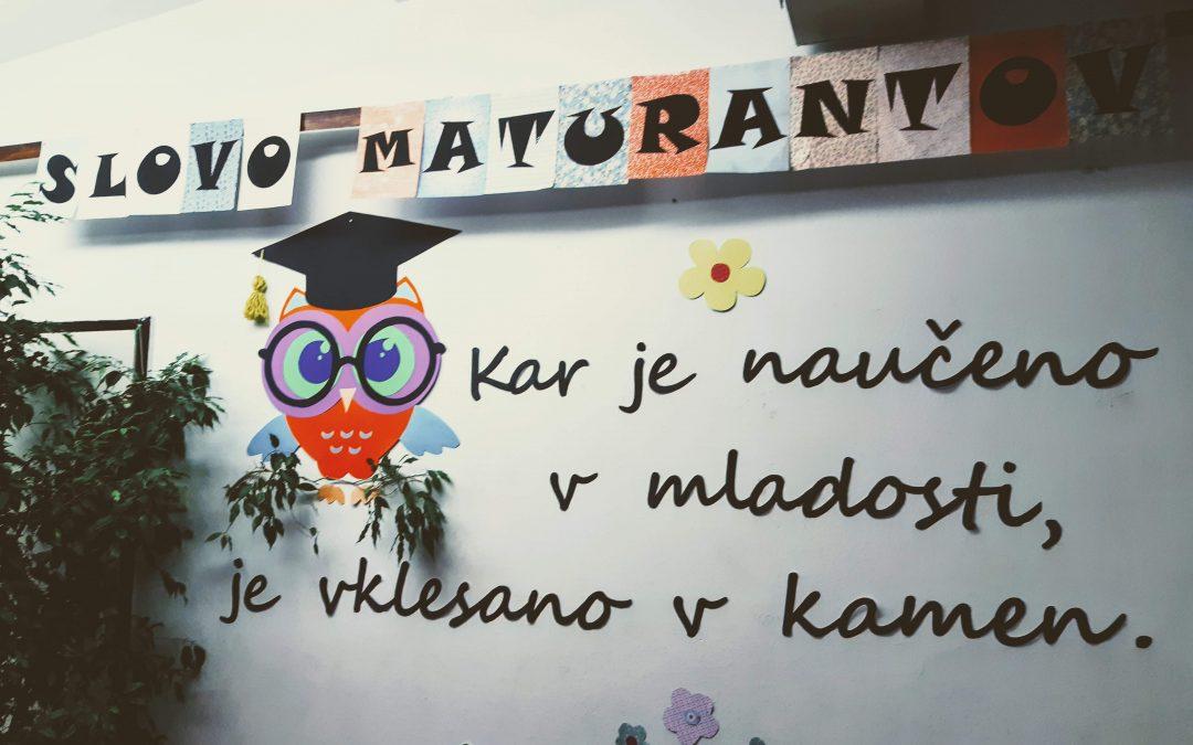 Slovo maturantov 2019